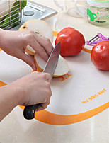 Resin Grinding Classification Cutting Board Fruit Plate Slices Transparent Chopping Board Antiskid Chopping Block Color Random