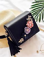 Women Shoulder Bag PU All Seasons Square Magnetic Light Green Blushing Pink Black White