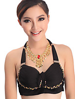 Belly Dance Neckwear Women's Performance Metal Rhinestone 1 Piece Neckwear