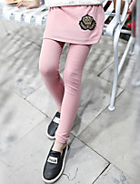 Girls' Solid Color Pants Spring Fall