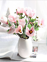 17inch 5 Branch 10 Heads Silk Magnolia Artificial Flowers