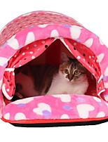 Кошка Собака Кровати Животные Коврики и подушки В горошек Мягкий Желтый Красный