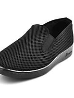 Men's Loafers & Slip-Ons Comfort Tulle Spring Summer Casual Comfort Flat Heel Black Flat