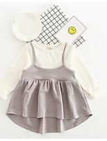 Girl's Fashion Dress,Cotton Spring Long Sleeve