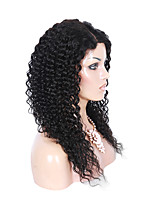 Full Lace Kinky Curly  Human Virgin Hair 130% Density Natural Black Color Wig with Baby Hair for Black Women