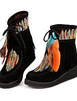 Women's Sandals Comfort PU Spring Casual Dark Brown Yellow Black Flat