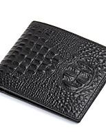 Men Wallets Genuine Leather Alligator cowhide Short Purse Brand Card Holder D6023-3