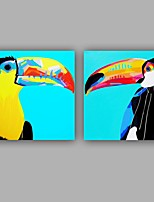 100%  Hand-Painted Abstract / Birds Modern / Classic Two Panel Canvas Oil Painting For Home Decoration