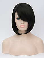 European and American Wigs Long Hair Wigs Black BOBO Straight Hair Wig 12inch