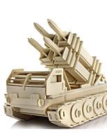 Пазлы 3D пазлы Строительные блоки Игрушки своими руками Дерево Модели и конструкторы