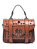 Women Tote PU All Seasons Formal Casual Event/Party Wedding Office & Career Flap Clasp Lock Brown Black