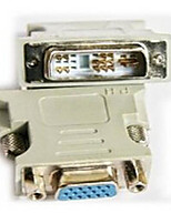 DVI Adapter, DVI to VGA Adapter Male - Female 720p Vernickelter Stahl