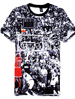 Homme Manches Courtes Basket-ball Tee-shirt Cuissards