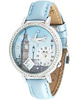 Жен. Модные часы Кварцевый Кожа Группа Синий