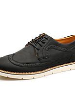 Для мужчин Туфли на шнуровке Удобная обувь Полиуретан Весна/осень Повседневные Удобная обувь На плоской подошве Черный Кофейный Коричневый