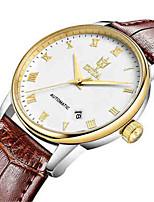 Per uomo Orologio alla moda orologio meccanico Carica automatica Calendario Resistente all'acqua Pelle Banda Bianco Marrone Oro rosa