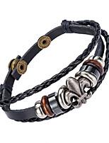 Homme Bracelets en cuir Bijoux Naturel Mode Cuir Alliage Bijoux Pour Occasion spéciale Sports 1pc