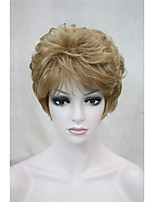 Fashion Curly Light Strawberry Blonde Short Synthetic Hair Full Women's  Wig For Everyday