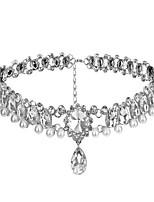 Классическая и традиционная Лолита Ожерелья Блеск и сияние Лолита Аксессуары Ожерелья Для Искуственные драгоценные камни