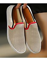 Men's Loafers & Slip-Ons Tulle Spring Black Beige Blue Flat