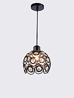 Max 60W Modern Crystal Pendant Light Mini Style Painting Metal Living Room Bedroom Dining Room Kitchen Lighting Fixture