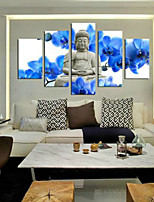 Art Print Abstract Portrait Traditional,Five Panels Horizontal Print Wall Decor For Home Decoration