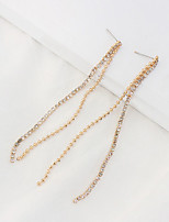 Women's Drop Earrings Cubic Zirconia Tassel Euramerican Fashion Cooper Jewelry For Party Casual