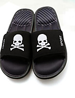 Men's Slippers & Flip-Flops Comfort PU Spring Casual Comfort Blue Ruby Black Flat