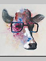 Modern Abstract Cow Animal Hand Painted Canvas Oil Painting With Stretched Frame
