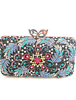 Women Fashion Handmade Crystal Evening Wedding Hand Clutch Bags Gold/Silver