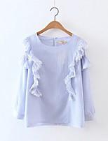 Tee-shirt Femme,Couleur Pleine Sexy simple Chic de Rue Eté Sans Manches Col Arrondi Coton Fin Moyen