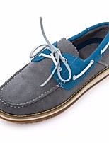 Men's Boat Shoes Comfort Tulle Spring Casual Comfort Earth Yellow Gray Black Flat