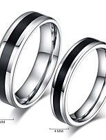 2 pc Couple's Rings Vintage Simple Titanium Steel Ring Jewelry For  Wedding Party Daily