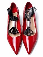Da donna Tacchi PU (Poliuretano) Primavera Nero Rosso Piatto