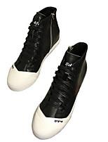 Da donna Sneakers Comoda Nappa Primavera Casual Bianco Nero Piatto