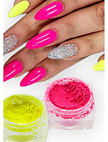 1g/Bottle Fashion Candy Color Nail Art Neon Power DIY Beauty Pigment Magic Neon Effect Power Nail Fluorescent Decoration YE