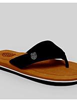Men's Slippers & Flip-Flops Comfort PVC Spring Daily Ruby Brown Black Flat