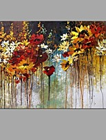 With Stretcher Frame Ready To Hang Hand-Painted Knife Flower Oil Painting For Home Decoration