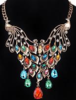 Pendant Necklace Chain Necklaces Women's Bird Imitation Diamond Pendant Necklace Euramerican Luxury Friendship Party Halloween Congratulations Statem