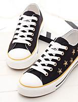 Da donna Sneakers Di corda Primavera Bianco Nero Piatto