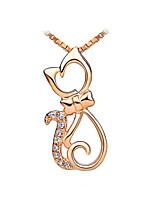 Жен. Ожерелья с подвесками Кот Позолота Животный дизайн Мода Бижутерия Для Повседневные 1шт