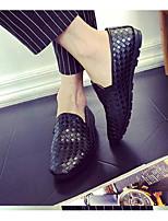 Men's Loafers & Slip-Ons Comfort PU Summer Casual Comfort White Black Flat