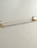 European Style Solid Brass  Bathroom Shelf Bathroom Towel Bar Bathroom Accessories