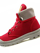 Для женщин Кеды Удобная обувь Полиуретан Весна Осень Для прогулок Шнуровка На плоской подошве Черный Бежевый Серый Красный Менее 2,5 см