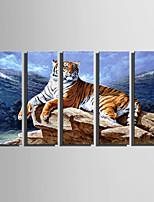 Животное Modern,5 панелей Холст Вертикальная Печать Искусство Декор стены For Украшение дома