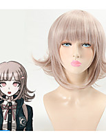 DanganRonpa Cosplay Wig Chiaki Nanami Costume Play Woman Adult Wigs Halloween Anime Game Hair Heat Resistant Wave Short Wig