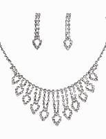 Свадебные комплекты ювелирных изделий Стразы Мода Классика Сплав В форме сердца 1 ожерелье 1 пара сережек ДляСвадьба Для вечеринок Особые
