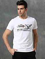 Homens Camiseta Acampar e Caminhar Verão