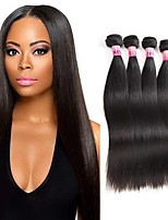 Top Sales Grade 8A Brazilian Virgin Remy Hair Straight 4 Bundles Brazilian Straight Hair Unprocessed Brazilian Hair Weave Bundles 400g