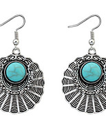 Euramerican Bohemian  Fashion Elegant Vintage Delicate Circle Silver  Lady  Party Earrings Movie Jewelry